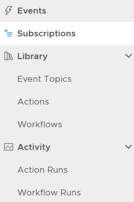 Extensibility menu items